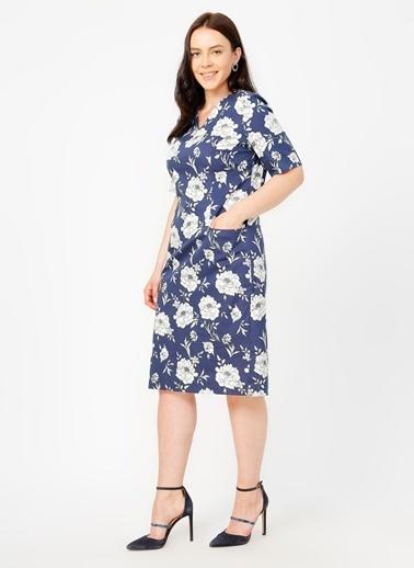 Selen Selen 20YSL7726 Lacivert Kadın Elbise Lacivert